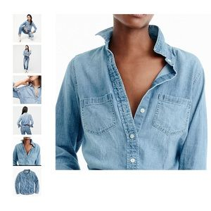 J. Crew Chambray Everyday Favorite Long Sleeve